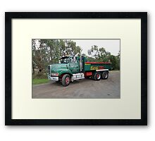 Ford L9000 - Barry Feil Transport and Excavations Framed Print
