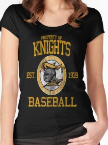 Gotham City Knights Baseball Women's Fitted Scoop T-Shirt