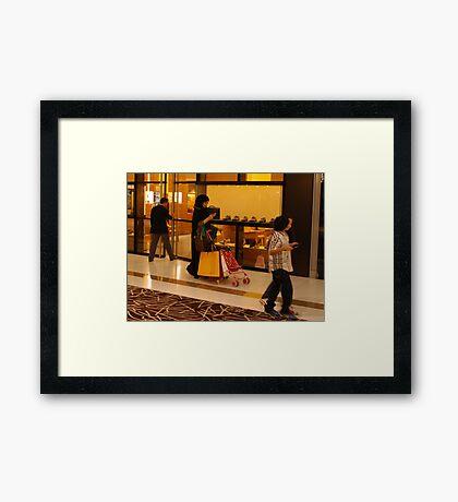 Consumer culture Framed Print