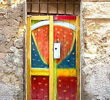 An Old Multi-Colored Door by Michele Filoscia