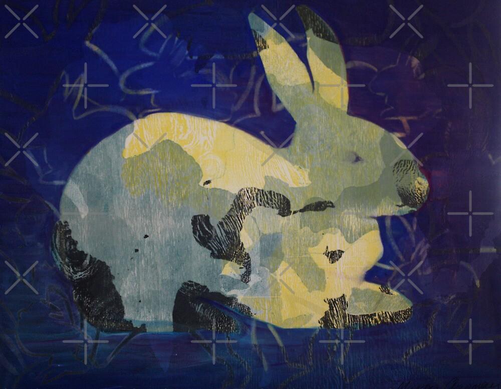 Printmaking: Rabbit by Marion Chapman