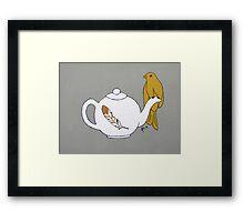 Teapot Perch Framed Print