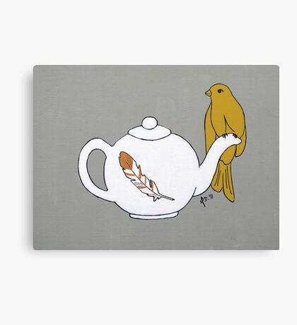Teapot Perch Canvas Print