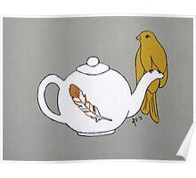Teapot Perch Poster