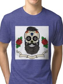 bearded skull Tri-blend T-Shirt