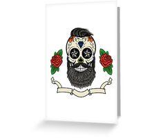bearded skull Greeting Card