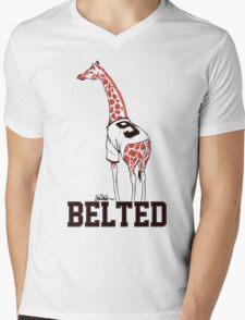 Belted Belt Giraffe Mens V-Neck T-Shirt