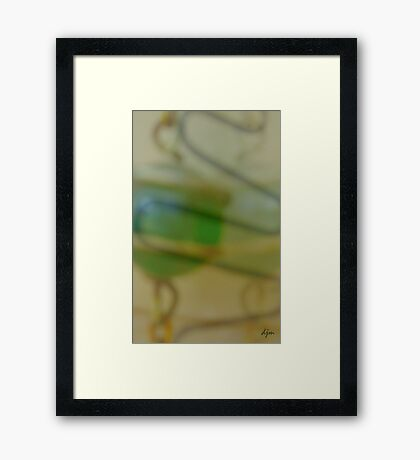 A Softer Shade Of Green Framed Print