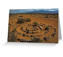 Spiral on the Rim Greeting Card