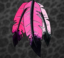 Ombre Feathers in Pink by truthis