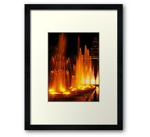 Coloured Fountains in Hong Kong Framed Print