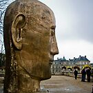 Giant Head Sculpture by David Preston
