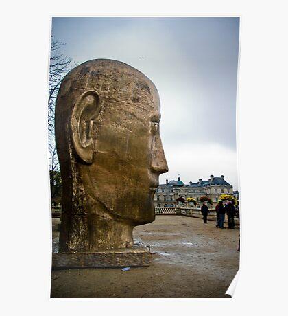 Giant Head Sculpture Poster