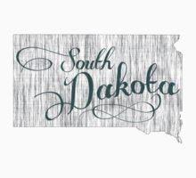 South Dakota State Typography Baby Tee