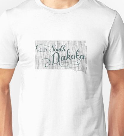 South Dakota State Typography Unisex T-Shirt