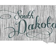 South Dakota State Typography by surgedesigns