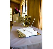 Guest book Photographic Print