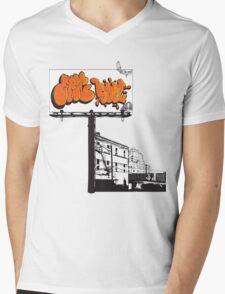 Billboard Slums Mens V-Neck T-Shirt