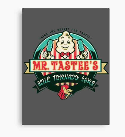 Mr. Tastee's Blue Tornado Bars Canvas Print