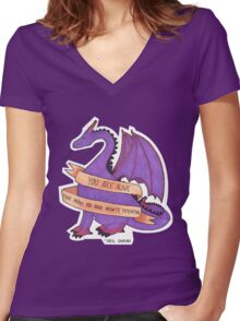 Dragons and Stuff Women's Fitted V-Neck T-Shirt