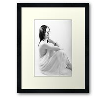 Zoe - Sensuality - High Key Framed Print