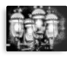 Frosty Streetlamps Metal Print