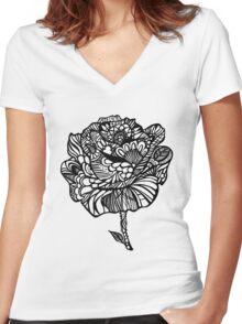 rose' Women's Fitted V-Neck T-Shirt
