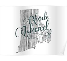 Rhode Island State Typography Poster