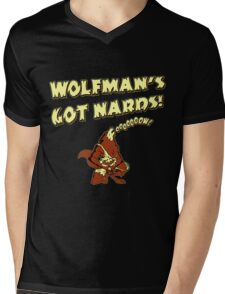 Wolfman's Got Nards Mens V-Neck T-Shirt