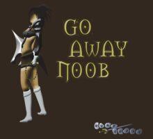 Runescape go away noob by LindasDesign