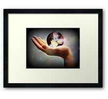 In The Palm Of Our Hand... Framed Print