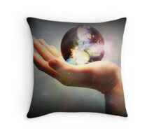 In The Palm Of Our Hand... Throw Pillow