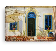greek cafe Canvas Print
