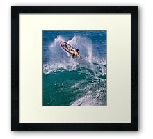 Pipeline Surfer 7 Framed Print