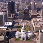 Downtown St. Louis from the Arch - (1981) by Dwaynep2010