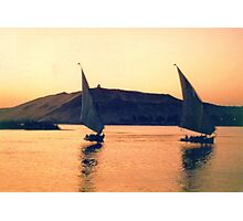 Felucca on the Nile, Egypt Photographic Print