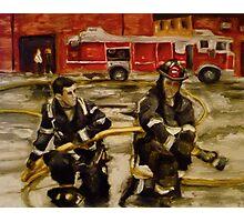 Firemen Photographic Print