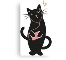 Music Kitty Canvas Print