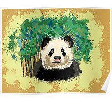 splatter panda  Poster