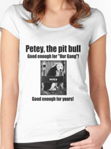 Petey the Pit Bull Women's Fitted Scoop T-Shirt