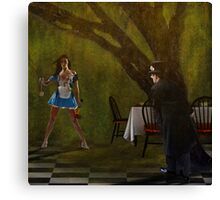 """""""Come"""" said Alice. """"There is rabbit for dinner"""" Canvas Print"""