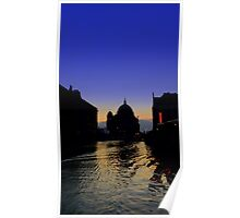 BERLIN - DOM SUNSET BLUE Poster