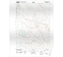 USGS Topo Map Oregon Krumbo Reservoir 20110818 TM Poster