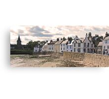 Beachfront houses- Anstruther Canvas Print