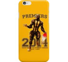 'The Mighty Premiers From Hawthorn' 2014 Print By Grange Wallis iPhone Case/Skin