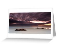 The Raging Sea in the Sky Greeting Card
