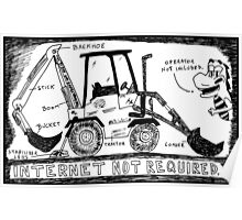 Backhoe Internet Poster
