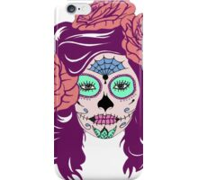 Colorful Sugar Skull Woman iPhone Case/Skin