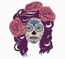Colorful Sugar Skull Woman Baby Tee