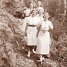 Hiking in the Blue Mountains, NSW, Australia (c1936) by Adrian Paul